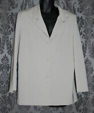 Womens size 14 long button down beige jacket made by FELLA HAMILTON