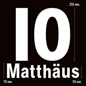 Matthaus 10 Bayern Munich Home football shirt 1997 - 1999 FLOCK NAMESET NAME SET