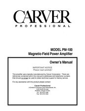 Carver PM-100 Amplifier Owners Manual