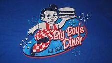 Big Boy's Diner Blue T-Shirt Size Large Detroit Michigan U.S.A.