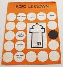 Partition vintage sheet music A. HAGUE : Bozo le Clown * 70's