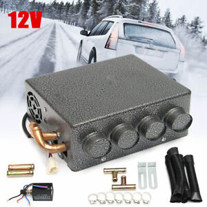 12V  Universal Copper Heater + Speed Switch 4 Ports Car Underdash Compact  NEW