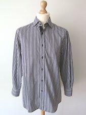 """Paul & Shark Black Collection Men's Cut Away Striped Dress Shirt Size 16"""" - 41"""