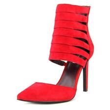Sandalias y chanclas de mujer de tacón alto (más que 7,5 cm) de color principal rojo de ante