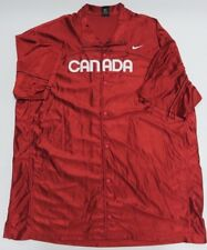 NIKE Team Canada Basketball Warm Up Red Snap Up Athletic Shirt Adult Size XXLT