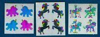 Sandylion Vintage 80's Unicorn Sticker Lot- Pearly, Prismatic and Foil
