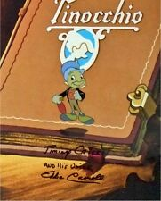 Signed Voice Eddie Carroll Jiminy Cricket Disney production cel pinocchio Seal