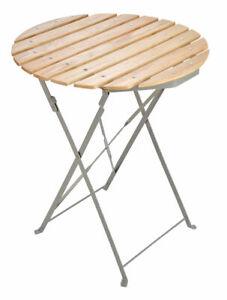Holz Gartentisch rund 60 cm - Biergarten Bistrotisch Holztisch Tisch Klapptisch