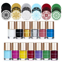 13colors NICOLE DIARY Nail Art Stamping Polish  Varnish DIY Silver White