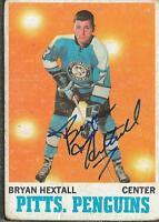 Bryan Hextall 1970 Topps Autograph #94 Penguins