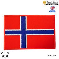 Norway National Flag Embroidered Iron On Sew On PatchBadge For Clothes etc