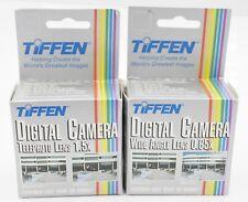 NOS Set - Tiffen 37mm Clip In Tele & Wide Angle Lenses - Film & Digital Cameras