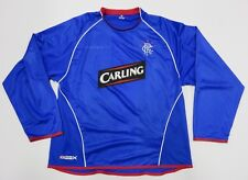 Umbro RANGERS FC Scotland Soccer League Long Sleeve Athletic Jersey Adult Sz XL