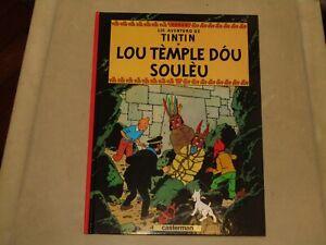 9782203009233 Tintin en provencal lou temple dou souleou bd le temple du soleil