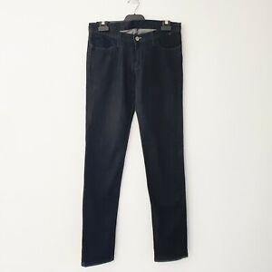 "Ksubi Mens Size 30"" Length 33"" Black Wash Stretch Denim Skinny Slim Fit Jeans"