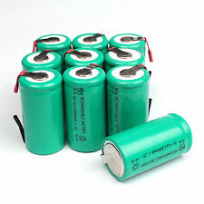 Univerisal 10pcs 3000mAh Ni-CD C Size 1.2V Rechargeable Battery with Tab