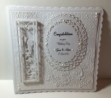 Luxury Handmade Personalised Wedding Day Congratulations Anniversary Card