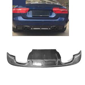 Fit For Jaguar XE Auto Rear Bumper Diffuser Quad Tips Lip Carbon Fiber 2015-2017