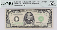 1934A $1000 Bill Federal Reserve Note Chicago Small Size PMG AU55 EPQ Fr2212-G