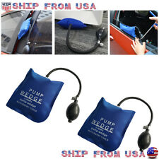 2x Air Wedge Pump Inflatable Bag Clamp Shim For Car Door Window Lock Open Tools