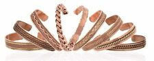 Set of 9 Tibetan Copper Bracelets Magnetic India Pattern Women's Men's