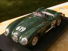 JAGUAR C TYPE #619  MILLE MIGLIA 1952 GREEN BRUMM 1/43 NEW MADE IN ITALY