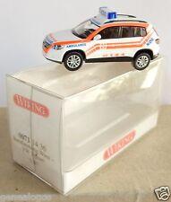 WIKING HO 1/87 VW VOLKSWAGEN TIGUAN WIENER RETTUNG AMBULANCE VIENNE KDO IN BOX