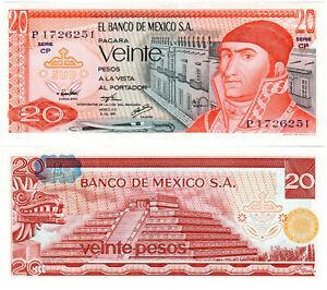 Mexico 20 Pesos P#64c(6) (1976) Banco de México S.A. UNC