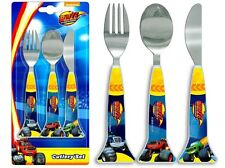 Spearmark NickJr Blaze & The Monster Machines Cutlery Set Birthday Gift Age 3-4