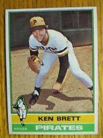 1976 TOPPS CARD # 401 KEN BRETT