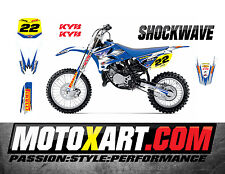 YAMAHA YZ 85 - 2015 - 2016 SHOCKWAVE style stickers kit Full Custom Graphics
