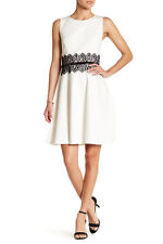ERIN erin fetherston Gia Lace Accent Ponte Fit & Flare Dress size 0 NWT 295$