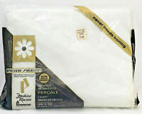 Vintage Fashion Manor Penneys Sheet, White Twin Bed Fitted Sheet, 50/50 Percale
