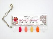 CND SHELLAC & VINYLUX BOHO SPIRIT Color Chart Nail Palette -4 COLOR SAMPLER