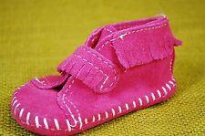 Minnetonka Moccasin Infant Girls Fringe Bootie Size 2 Dark Pink Suede Shoes Boot