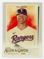 2020 Topps Allen & Ginter #251 COREY KLUBER Texas Rangers BASE BASEBALL CARD