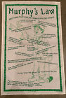 "Murphy's Law Funny Irish Cotton Tapestry Tea Towel 28""x18"" Made In Ireland"