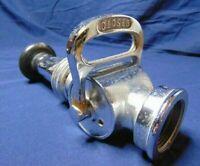"""Fire Hose Nozzle Vintage Powhatan 10"""" Open Close 2"""" Chrome Plated Brass"""