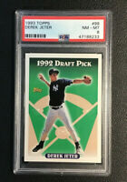 1993 Topps Derek Jeter #98 Draft Pick Rookie RC HOF PSA 8 NM - MT