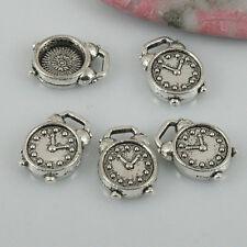 20pcs tibetan silver color alarm clock design charms EF0507