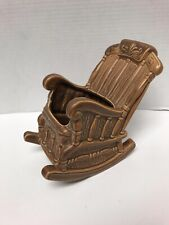 "Vintage Rocking Chair Planter 7.5"" Tall Ceramic"
