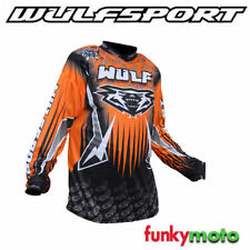 Jersey de motocross color principal naranja