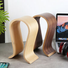 U Shape Wood Headphone Earphone Stand Hanger Holder Desk Display Shelf Rack#New