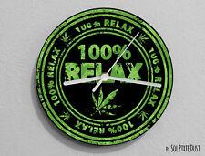 100% Relax Funny Marijuana Wall Clock