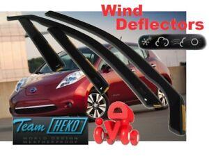 For NISSAN LEAF I  2010 - 2017   5.doors Wind deflectors  4.pc HEKO 24299