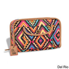 GIGI HILL GIA DANI  MILEAH DEL RIO AZTEC PRINT MAKE-UP TRAVEL BAG NEW WITH TAGS