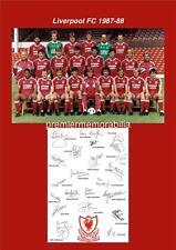 LIVERPOOL FC 1987-1988 KENNY DALGLISH JOHN ALDRIDGE BEARDSLEY SIGNED (PRINTED)