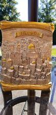 Jerusalem Silver & Gold Scroll plaque 6 x 8.5 Holy Land