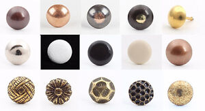 100 DECORATIVE UPHOLSTERY NAILS / STUDS / TACKS / 17 DIFFERENT STYLES