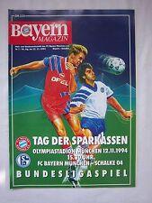 Orig.PRG   1.Bundesliga  1994/95  FC BAYERN MÜNCHEN - FC SCHALKE 04  !!